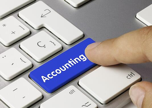 Accounting. Keyboard