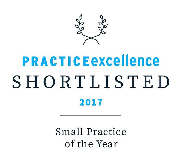 small practice of the year 2017 award; practice excellence; practice excellence shortlisted