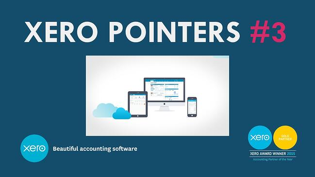 Xero Pointers #3 Create templates for faster invoicing