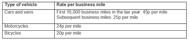 Tax-free mileage payments