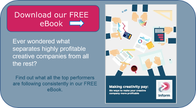 Download your free eBook Making Creativity Pay: 6 ways to make your creative company more profitable
